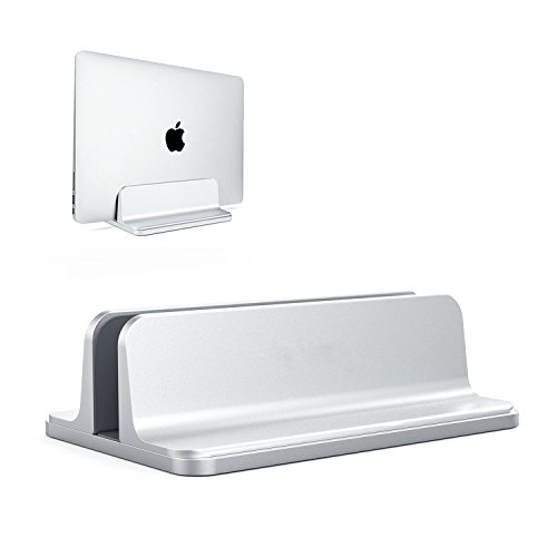 ORANGEHOME Vertical Laptop Stand, Laptops Cradle Holder, Laptop Standing Desk Dock with Adjustable Size, Laptop Computer Accessories Holder for MacBook Pro/Air Dell Hp Surface iPad-Silver