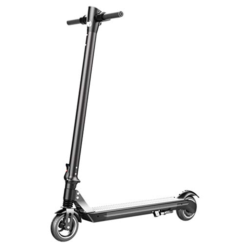 DEESEE(TM) Commuting Electric Scooter, Adults Foldable Adjustable Speed Two-Wheel Carbon Fiber Kick Scooter with Shock Absorber, Tail Lights, High-Efficiency Motor