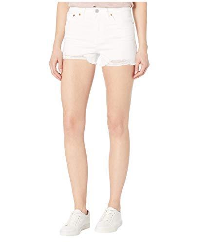 Levi's Women's High Rise Shorts, Salt White, 33 (US 16)