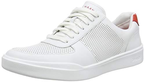 Cole Haan Men's Grand Crosscourt Modern PERF Sneaker, Optic White/Molten Lava, 11