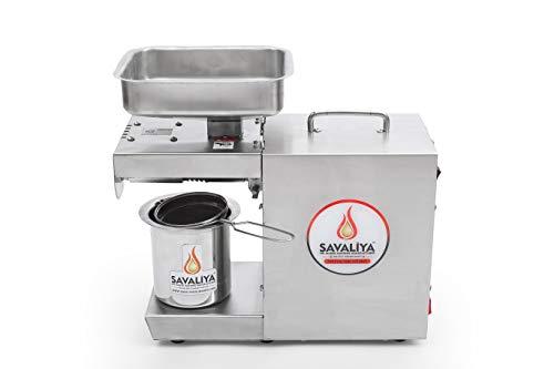 Savaliya Industries 400W Edible Oil Press Machine (Silver) :: Made in India :: (Manual)