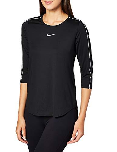 Nike - Tennis-T-Shirts für Damen in Schwarz / Weiß / Weiß / Weiß, Größe S