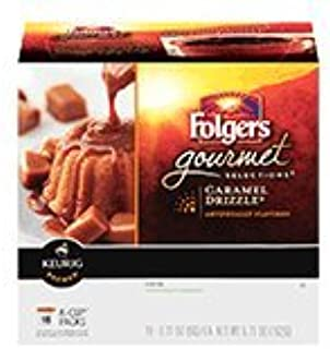 Folgers Gourmet Selections Caramel Drizzle K-Cups Coffee 18 ct