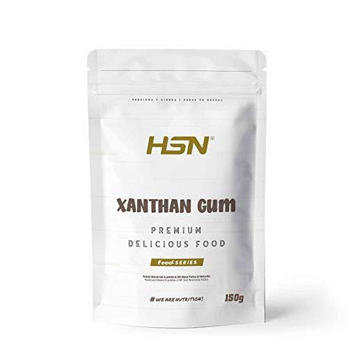 Goma Xantana de HSN | Espesante Alimenticio | Ideal para Recetas Fitness | Fibra Soluble para dar Espesidad | Vegano, Sin Gluten, Sin Lactosa, En Polvo | 150 gr