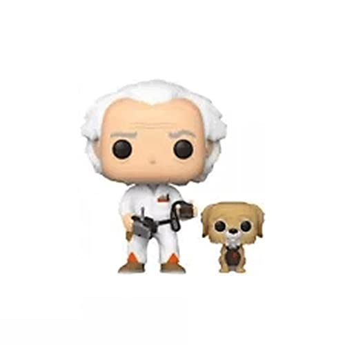 Funko Pop Movies : Back to The Future - Doc & Einstein 3.75inch Vinyl Gift for Science Fiction Film Fans SuperCollection