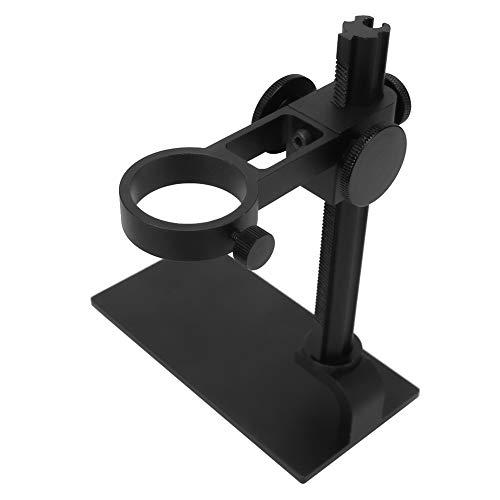 Desktop Microscope Holder, Aluminum Alloy Stable 32-34mm Microscope Bracket, for Digital Microscopes for Electron Microscopes(Black)