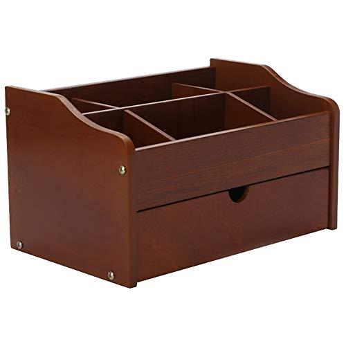 Caja de almacenamiento de joyas Caja de almacenamiento de escritorio de madera maciza Caja de almacenamiento de escritorio cosmestic Cajonera de enrejado de un cajón Para Pendientes Collar Joyas Organ