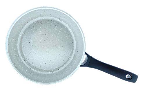 Home Creation Pfanne 24 Durchmesser/Bratpfanne mit strapazierfähiger Keramikbeschichtung (hell)