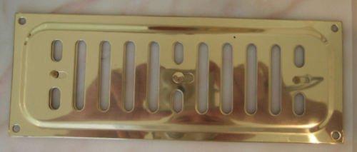 22,9x 7,6cm Messing massiv poliert Hit & Miss verstellbar Open & Close Vent Lüftungsgitter