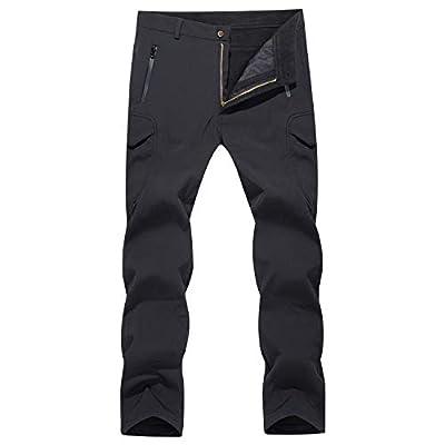 MAGCOMSEN Tactical Pants for Men Military Pants Work Pants for Men Hiking Pants Mens Camping Pants Winter Pants for Men Fleece Lined Black