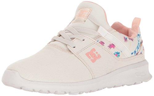 DC DC Girls' Heathrow Sneaker, Cream, 7 M US Big Kid