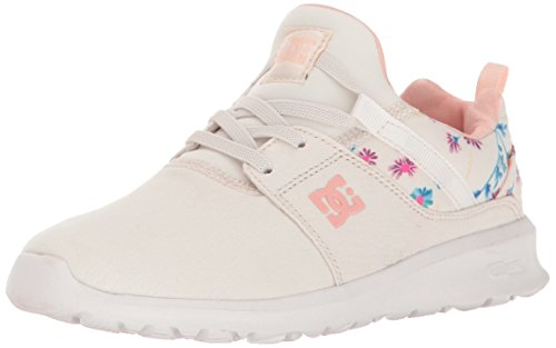 DC DC Girls' Heathrow Sneaker, Cream, 7 M US Big Kid