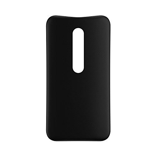 Motorola Original Shell Austauschbare Rückseite für Moto G3 - Schwarz