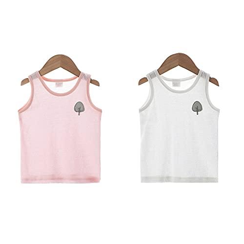 CHAYANG - Chalecos de malla de algodón para bebés recién nacidos, niños y niñas, ropa interior de 0 a 3 años