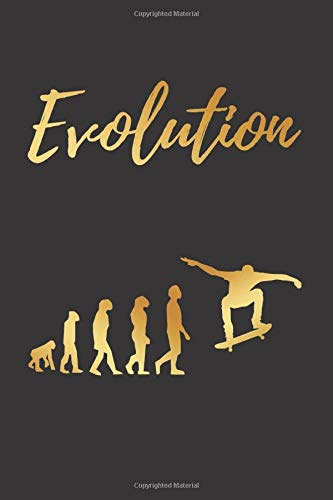 EVOLUTION: BLANK LINED NOTEBOOK | Notepad, Skateboard Journal, Personal Diary | GIFTS FOR SKATEBOARDING LOVERS.
