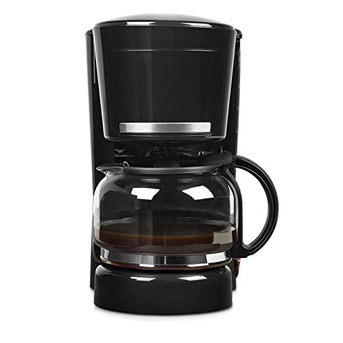 MEDION MD 17229 ekspres do kawy (maks. 870 W, na 8 – 10 filiżanek, 1,25 litra, funkcja zapobiegająca kapaniu, zabezpieczenie przed przegrzaniem), czarny