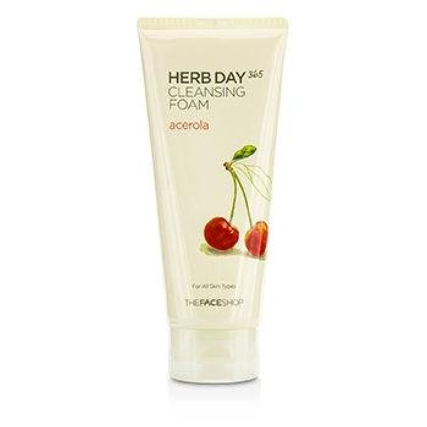 結紮アカウントビンTHE FACE SHOP Herb Day 365 Cleansing Foam Acerola (並行輸入品)