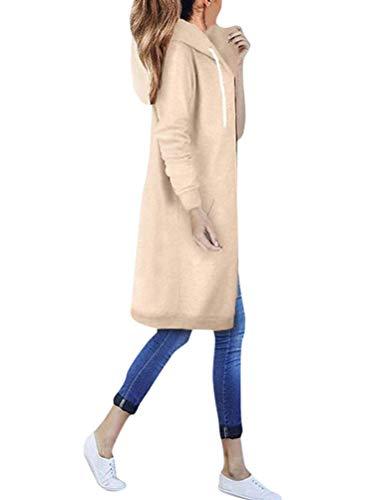 Onsoyours OversDose Damen Hoodie Langarm Pullover Kapuzenpulli Outwear Kapuzenjacke Sweatshirt Jacken Herbst Winter Khaki 48