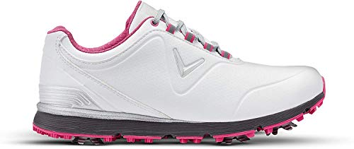 Callaway Women's Golf Shoes, White White Pink White Pink, 42