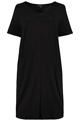 Ulla Popken Damen große Größen Nachthemd schwarz 66/68 727937 10-66+
