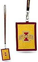 NCAA Iowa State Cyclones Beaded Gem Lanyard with ID Wallet