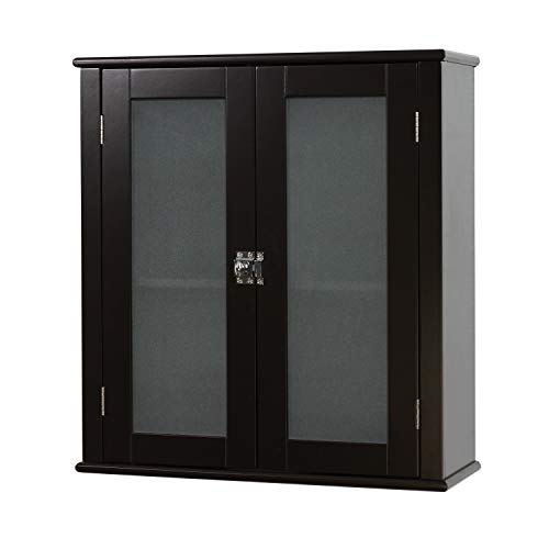 Zenna Home Classic wall cabinet, Espresso