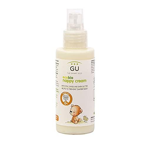 Crema Pañal Bebé 100 ml - Contiene Manteca de Karité y Óxido de Zinc - Previene las Irritaciones - Ideal Para Pieles más Delicadas - Crema para Cambio de Pañal - Crema para Bebé - Gu Planet