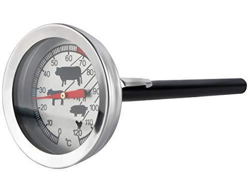 Thermometer 120 C Grad Backofen Edelstahl Ofen Grill Braten Bimetall Neu 465