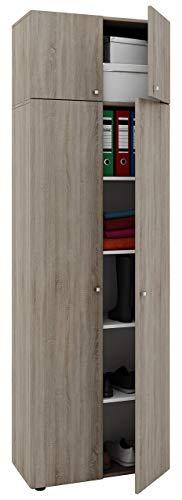 VCM Schrank Universal Mehrzweckschrank Dielenschrank Holz sonoma-eiche 218 x 70 x 40 cm
