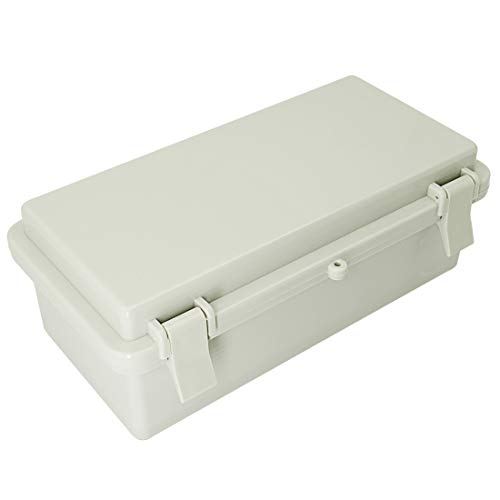 LMioEtool ABS Plastic Dustproof Waterproof IP65 Junction Box Hinged Shell Universal Electrical Project Enclosure Gray 7.9 x 3.9 x 2.8 inch (200 x 100 x 70mm)
