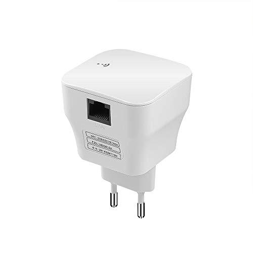 DZANS Mini Repetidor WiFi Amplificador de Rango WiFi Enrutador Amplificador de señal Wi-Fi 300Mbps WiFi Booster 2.4G Wi Fi Ultraboost Punto de Acceso-Enchufe de EE. UU.