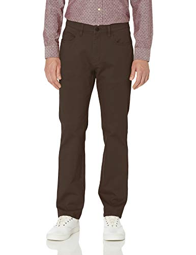 Amazon Brand - Goodthreads Men's Straight-Fit 5-Pocket Comfort Stretch Chino Pant, Brown 33W x 30L