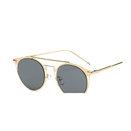 Vintage Colorful Metal Sunglasses thom browne Men sunglasses With Box Women,C03 Gold Pink,B With Case