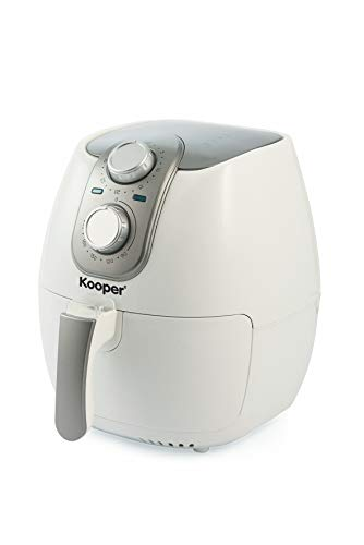 Kooper 2415660 Friggitrice ad Aria, 1500 W, 2.5 Litri, Bianco