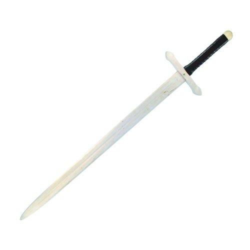 BestSaller 1007 Ritter Zweihand Schwert, Holz, 107 cm, mit lederumwickeltem Griff, natur (1 Stück)