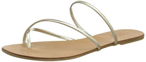 PIECES Psannie Leather Sandal, Sandalias Planas Mujer
