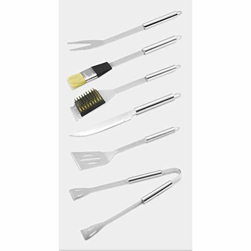 319b0QPoCuL - Outdoor-Aluminium-Edelstahl-Grillzubehör Grillzubehör sechsteiliges Set BBQ-Werkzeug liefert Grill-Werkzeugsatz
