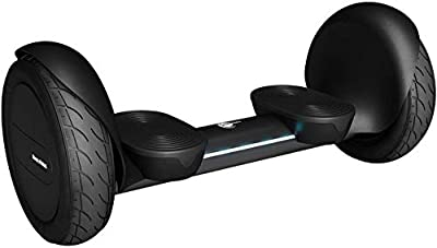 """Wheelheels Balance Scooter, Hoverboard 'ALPHA OFFROAD' - 10"""" inflated tires, water-resistant aluminium-body, FROM GERMANY (Black)"""