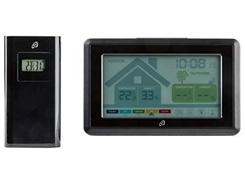 Estación meteorológica inalámbrica con sensor de temperatura, humedad interior y exterior