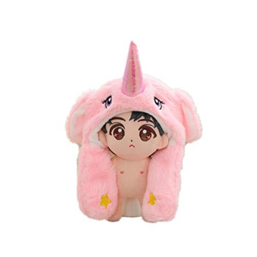FENICAL unicornio de navidad sombrero de felpa oreja divertida sombrero móvil fiesta de vacaciones gorra regalo de peluche accesorios de fotos para niños adultos (solo sombrero)