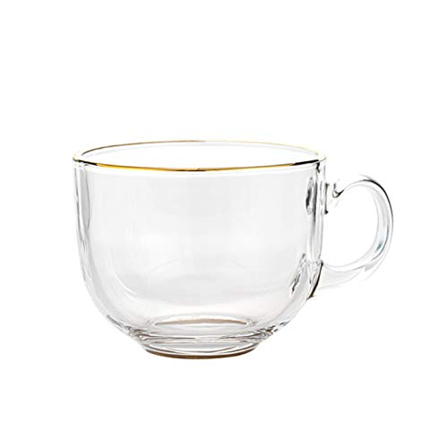DLRBWAN Copas de Vino Tazas de Vidrio Transparente Tazas, Tazas Grandes/Taza Grande/Taza de Cereal Jumbo/tazones de Sopa/Taza de Helado/tazones de Yogur/tazones de Yogur/Cuencos/Crema Plato BR