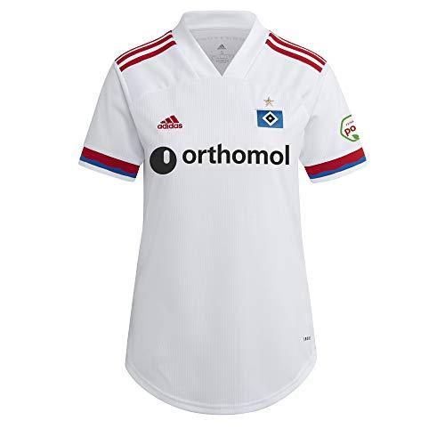 adidas Hamburgo SV Temporada 2020/21 Camiseta Primera equipación, Unisex, Blanco/Escarl/hsvblu, M