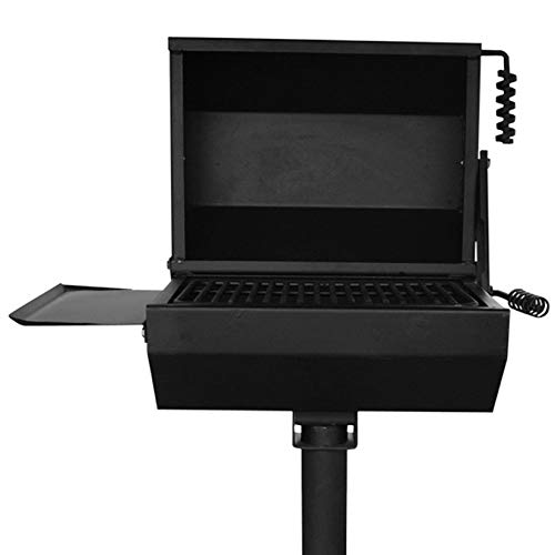Titan 390 Sq. in. Covered Park Grill with Shelf