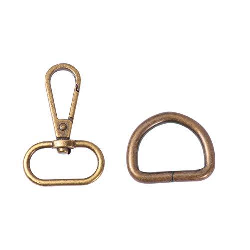 Healifty 20 piezas de metal d anillos giratorios mosquetones ganchos de pinza de langosta para equipaje diy ropa mochila...