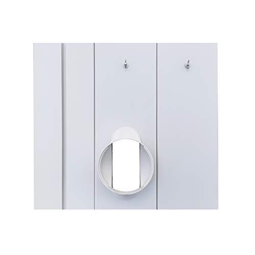 Jianzhenkeji - Kit de sellado de PVC para ventanas correderas para ventanas de aire acondicionado portátil con mangueras de 13 cm de diámetro