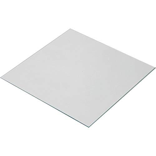 Wisamic Lecho térmico de vidrio borosilicato transparente 220x220x3mm para impresoras 3D MK2 / MK2A, Anet A8, Anet A6, Reprap, Mendel
