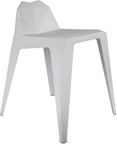 The Home Deco Factory – Taburete de diseño en Polipropileno Origami, Blanco