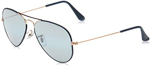 Ray-Ban 0RB3025 Gafas de sol, Copper On Matte Dark Blue, 54 para Hombre
