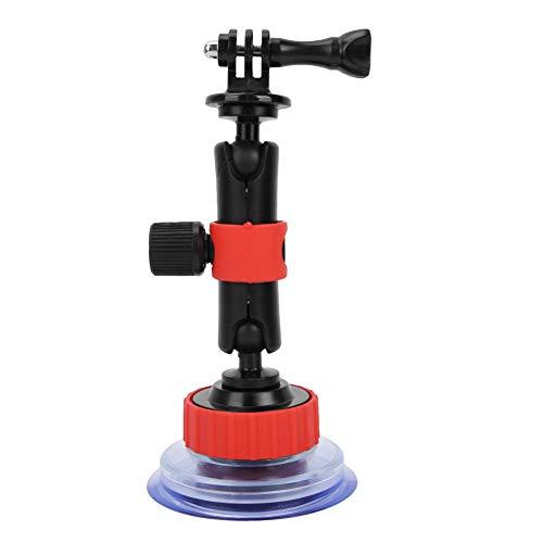 Ventosa per Gopro, SJ, XIaomi Yi e altri supporti per telecamere d azione, supporto per telecamera per barca per parabrezza per auto, supporto per videocamera DSLR con testa a due sfere, ruotabile di