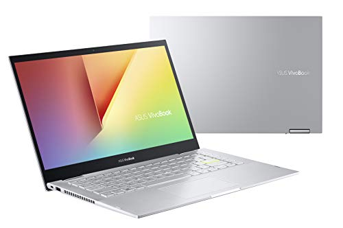 ASUS VivoBook Flip TP470EA-EC084T - Ordenador portátil 14' Full HD (Intel Core i5-1135G7, 8GB RAM, 512GB SSD, Intel Iris Xe Graphics, Windows 10 Home) Plata Transparente - Teclado QWERTY español